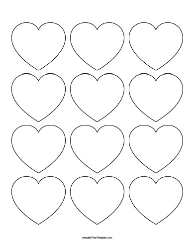 Free Printable Small Heart Templates