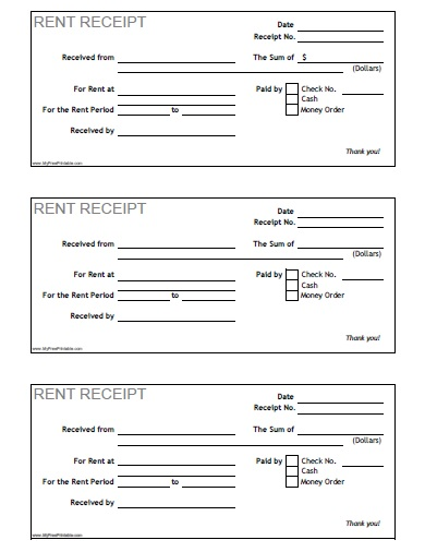 Free Printable Rent Receipt