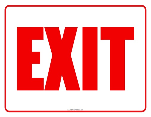 Free Printable Exit Sign