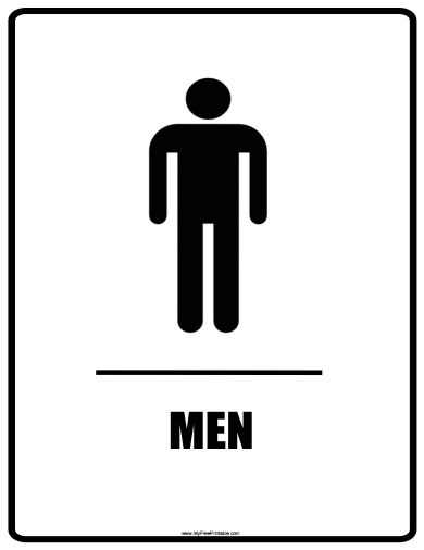 Free Printable Men Bathroom Signs