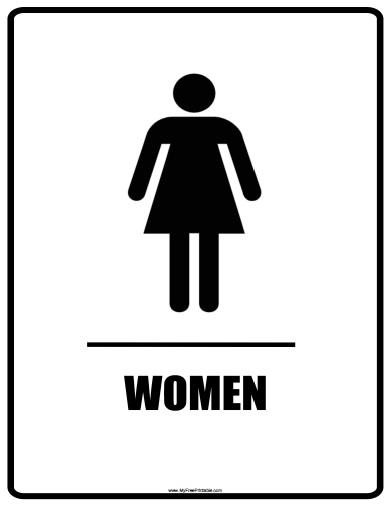 Free Printable Women Bathroom Signs